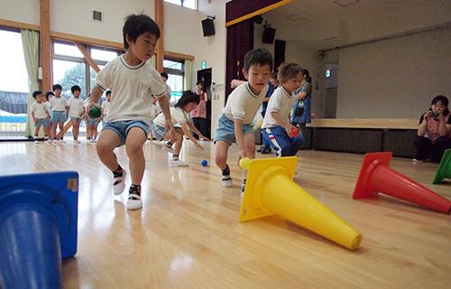 瞬発力を鍛えるカラーボール トレーニング
